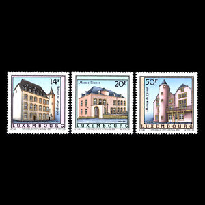 Luxembourg 1993 - Historic Residences Architecture - Sc 898/900 MNH