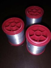 Coats & Clark Thread Lot 3 spools FINE CLEAR transparency embroidery 400 YD EA