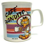 Vintage Enesco 1978 Jim Davis Cafe Bandito Garfield Mexican Sombrero Coffee Mug