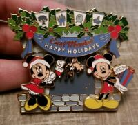 Disney Pin Cast Member Exclusive Happy Holidays Mickey Minnie Goofy Slider 27219