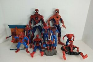 Mixed Lot Of Spiderman Action Figures Toys Loose B2
