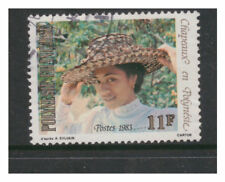 FRENCH POLYNESIA 1983 POLYNESIAN HATS (1ST SERIES) 11f  VERY FINE USED OFF PAPER
