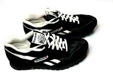 Reebok Classic Nylon Suede Black White Mens Size 9.5 Running Walking Shoes