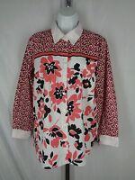 Bob Mackie Wearable Art Floral Shirt Size Small