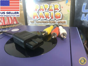 Nintendo GameCube Composite Video AV Cable / RCA Cord🏅 90-day Warranty!