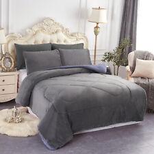 3 Pieces Warm Winter Micromink Sherpa Queen / King Comforter Set
