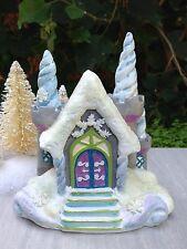Miniature GARDEN Mini Village ~ SNOW FAIRY Frozen CHRISTMAS Icicle Castle House