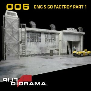 Flip Diorama 1/18 CMC & Co Factory Diorama seen from outside (Car not included)