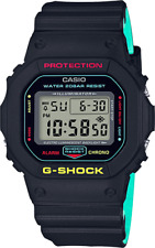NEW CASIO G-SHOCK DW5600CMB BREEZY RASTA BLACK LIMITED EDITION WATCH