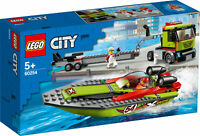 60254 LEGO City Great Vehicles Race Boat Transporter 238 Pieces Age 5 Years+