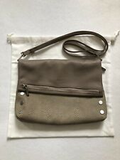 Hammitt Vip Large Clutch Crossbody Lizard Cardiff B Silver Great!
