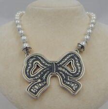 Brighton New PARIS BOW Necklace JN7352  Swarovski Pearls and Crystals