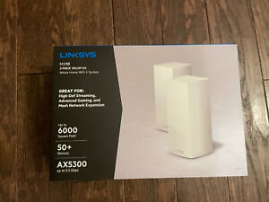Linksys MX10 2-pack Mesh Velop AX Whole Home Wi-Fi 6 System - MX10600 AC5300.