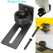 Adjustable Wheel Sliding Barn Door Hardware Wall Guide Bottom Floor Guide Black