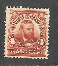 U.S. Scott 303 Grant 4c brown stamp, lightly hinged.