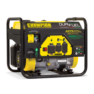 100524R - 3500/4375w Champion Dual Fuel Generator, manual start - Refurbished