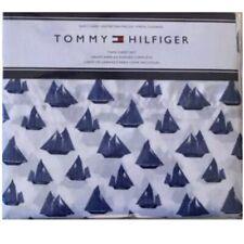 Tommy Hilfiger, Rigging Sailboats Pattern Sheet Set, White / Navy Twin