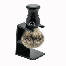 Luxury Frank Shaving 22mm Pure Badger Hair Shaving Brush with Drip Stand Holder
