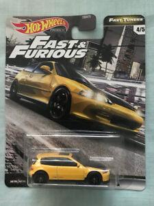 Hot Wheels - Fast & Furious - Fast Tuners - Honda Civic EG Yellow - Car Culture