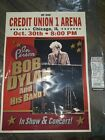 Bob Dylan UIC Chicago Credit Union 1 Arena S/N xxx/250 Rare Sold Out Screenprint