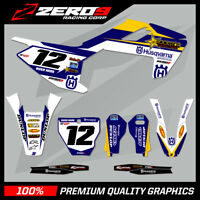 HUSQVARNA TE FE TC FC 125 250 450 MOTOCROSS MX GRAPHICS FULL KIT ROCKSTAR GP BLU