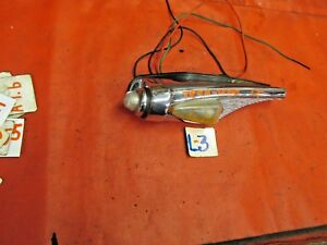 Triumph TR250, TR4A, Original Lucas Lt Front Side Marker Chrome Housing & Lights