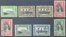 ST LUCIA 1936 KG5 Pictorial Short Set to 3d (8) Good/Fine used