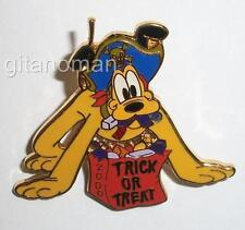 Disney Pluto Dressed as a Pirate w Trick or Treat Bag Costume Halloween 2000 Pin