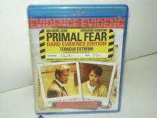 Primal Fear (Blu-ray, Bilingual, Region A, Canadian) NEW - Many Extras - No Tax