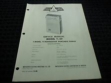 Orig. Panasonic Matsushita Service Manual Model T-59 Portable Transistor Radio