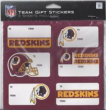 Washington Redskins Christmas Present Name Labels - Team Gift Stickers - To/From