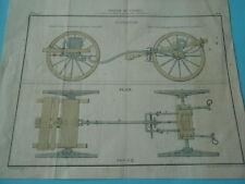 Planche 19èm - Journal de L'armée Elevation Plan pour tous les calibres