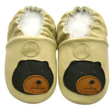 Freeship Littleoneshoes Soft Sole Leather Baby Shoes Infant Kid BearBeige 6-12M