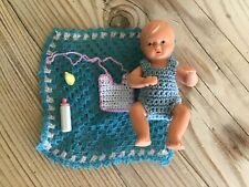 Antique Vintage miniature doll,small dolls house toy baby doll with accessories