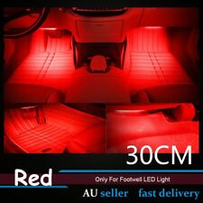 4x 30cm 1210 LED Strip Light For Car SUV Interior Footwell Light Decorative Red