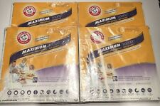 Lot Of (4) Arm & Hammer Maximum 16000 Allergen Air Filters 12x12x1 - New Sealed