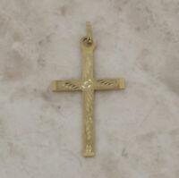 Gold Cross Pendant - Vintage 9ct Yellow Gold Cross Pendant