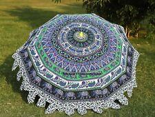 Elephant Mandala Patio Umbrella Yard Garden Sun Shade Parasol Outdoor Beach Deck