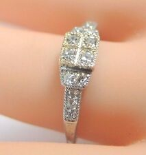 Antique Art Deco Traub Diamond Engagement Ring Platinum 18K Yellow Gold EGL USA