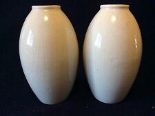 Paire de vases ovoïdes craquelés anonymes a priori Allemagne circa 1970 craquelé