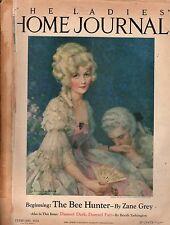 1925 Ladies Home Journal February-Zane Grey; Booth Tarkington;Coca Cola; Mormon