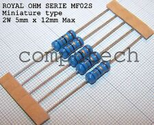 100 Ohm 2W ±1% 50ppm/°C Resistenze MF02S ROYAL OHM a strato metallico 5 pezzi