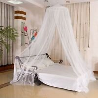 White Mosquito Net Canopy Fly Insect Protect Single Entry For Double King Bed UK