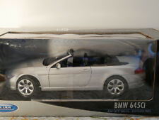 BMW 645i SILVER Welly 1: 18  art.2547W  NEW