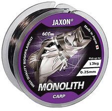Ligne de Pêche JAXON Monolithe Carpe 300m/600m Bobine Fichier Unique 0 25mm / 13kg 600m