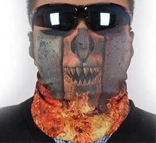 SKULL MOTORCYCLE FACE MASK NECK TUBE SCARF BANDANA SOLDIER - FREE P&P!!!