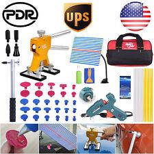 US STOCK PDR Paintless Dent Repair Tools Dent Lifter Puller Car Charger Glue Gun
