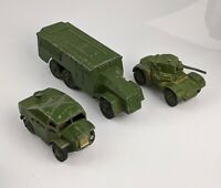 Dinky Military Vehicle Cars x3 Nos 670 67 688 Artillery Tractor Armoured Command