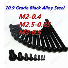 M2 M2.5 M3 Grade 10.9 Black Alloy Steel Hex Socket Button Head Screw Bolt