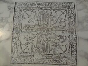 OLD MONGOLIAN TIBETAN BUDDHIST WOODBLOCK AMULET  PRINT ON PAPER
